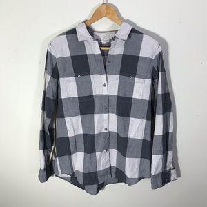 Madewell Broadway & Broome Gray Plaid Shirt